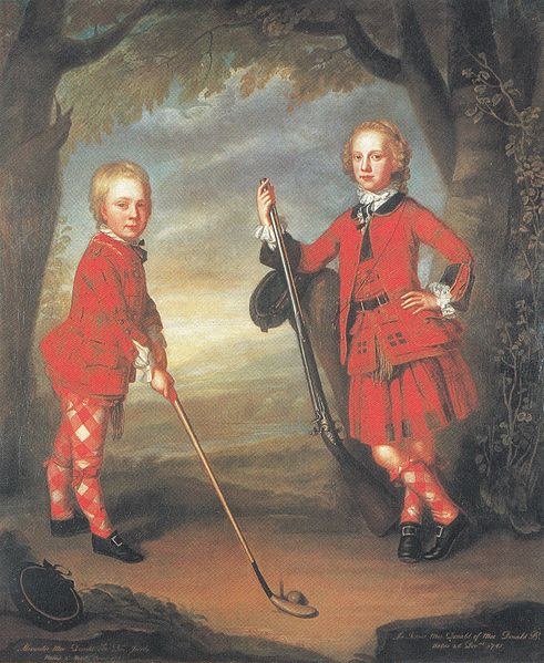 The MacDonald boys playing golf by Jeremiah Davison