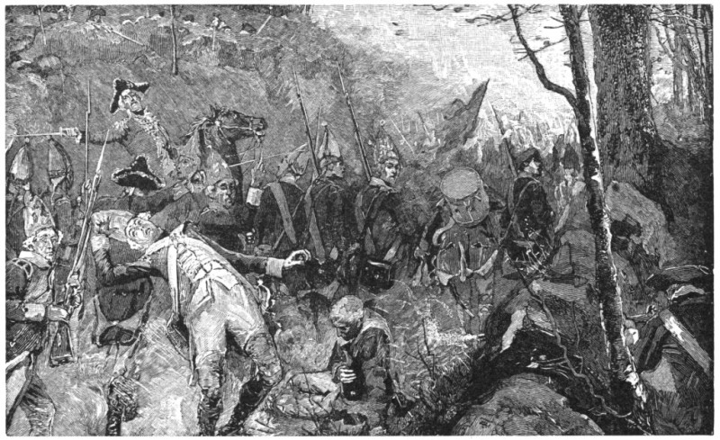 The Retreat Of The British From The Concord.