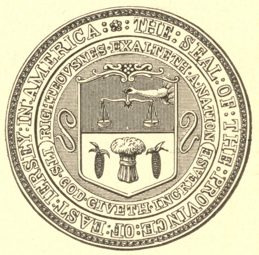 [Illustration: Seal of East Jersey.]