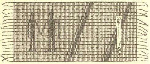 [Illustration: Wampum received by Penn in Commemoration of the Indian Treaty.]