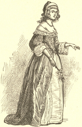 [Illustration: Costume about the Middle of the Seventeenth Century.]